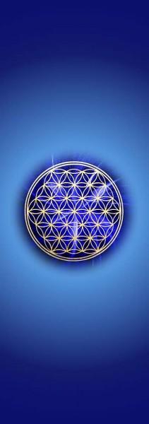 Blume des Lebens Lesezeichen | Motiv: Stirnchakra - dunkelblau | designed by atalantes spirit®