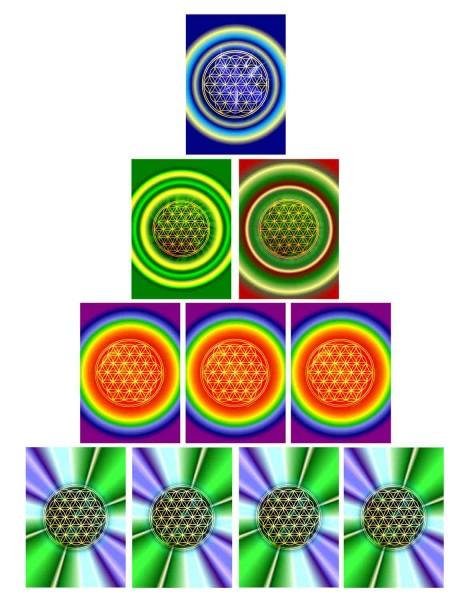 Blume des Lebens Postkarten SET | 5 Motive | designed by atalantes spirit®