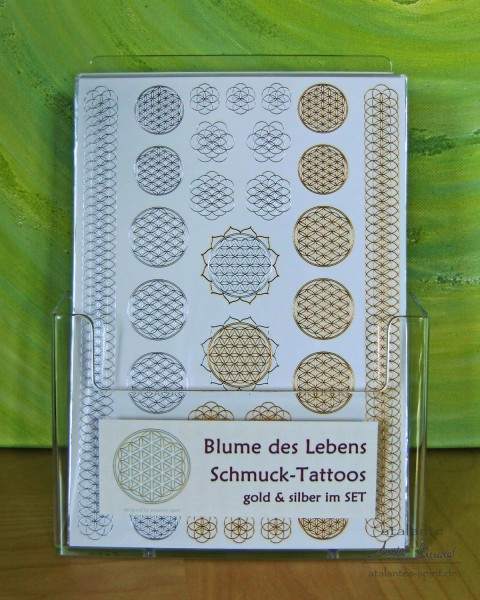 Acryldisplay   Tattoos, Motiv: Blume des Lebens   designed by atalantes spirit®