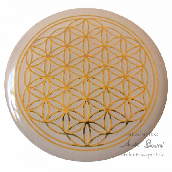 Blume des Lebens Doming-Aufkleber mit Reliefprägung | Farbe gold | designed by atalantes spirit®