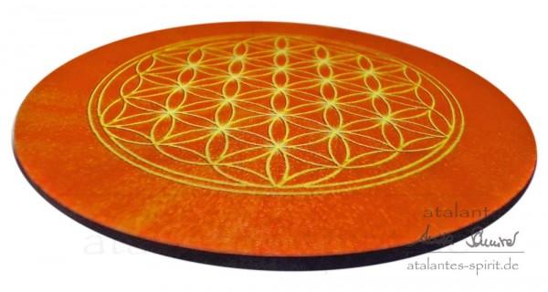 Blume des Lebens Untersetzer | Farbe orange | Sakralchakra | designed by atalantes spirit®