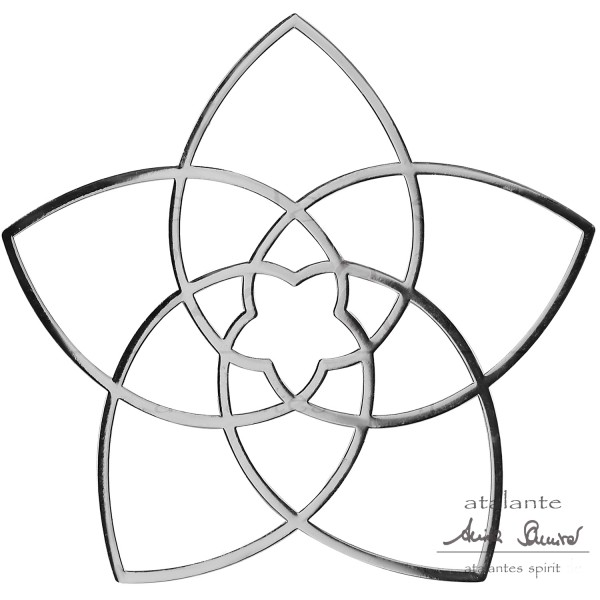 Venusblume EnerChrom® Metall-Aufkleber | Farbe silber | designed by atalantes spirit®