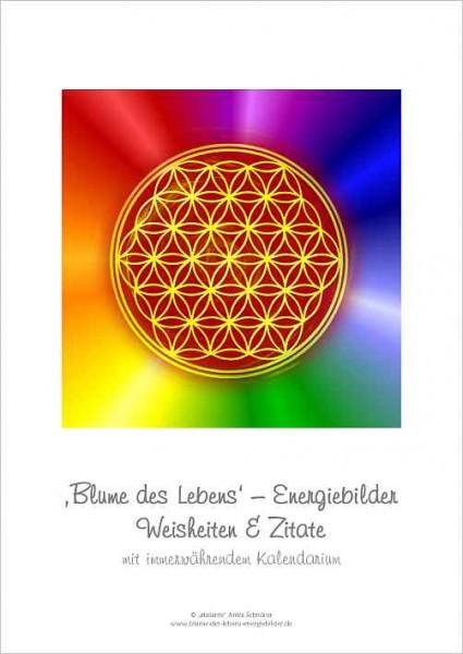 Blume des Lebens Energiebilder-Kalender, immerwährend   DIN A4   Deckblatt   designed by atalantes spirit®