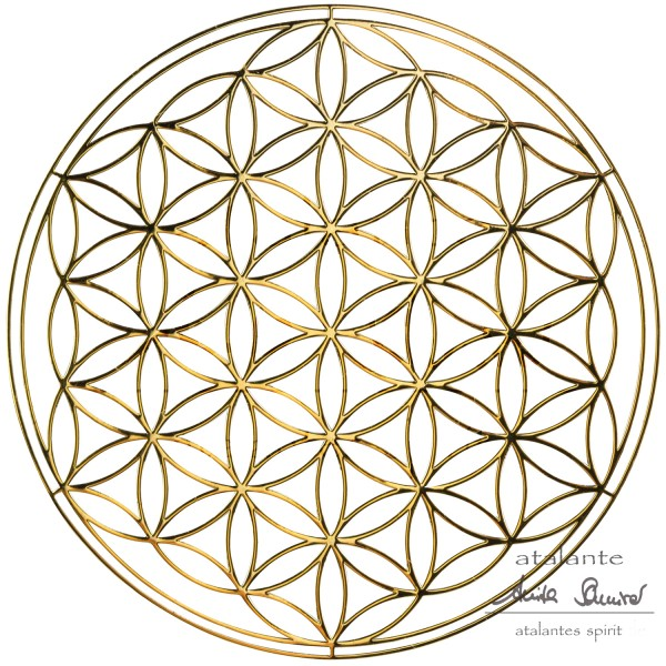 Blume des Lebens EnerChrom® Metall-Aufkleber | Farbe gold | designed by atalantes spirit®