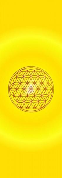 Blume des Lebens Lesezeichen   Motiv: Solarplexus - gelb   designed by atalantes spirit®
