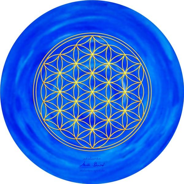 Blume des Lebens Mauspad | Farbe dunkelblau | Stirnchakra | Drittes Auge | designed by atalantes spirit®