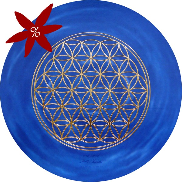 Blume des Lebens Mauspad | Farbe dunkelblau | Stirnchakra | Drittes Auge | II. Wahl | designed by atalantes spirit®