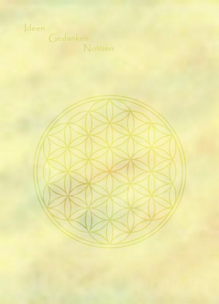 Blume des Lebens Notizblock | DIN A6 | Vorderseite | designed by atalantes spirit®