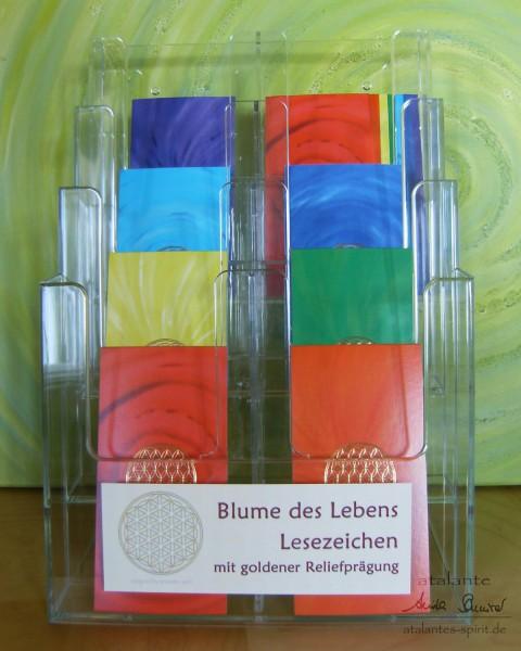 Acryldisplay | Lesezeichen mit Reliefprägung, Motiv: Blume des Lebens | designed by atalantes spirit®
