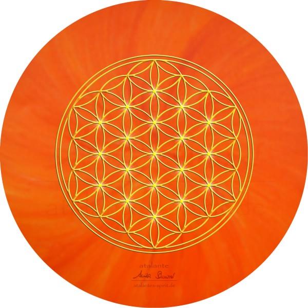 Blume des Lebens Mauspad | Farbe orange | Sakralchakra | designed by atalantes spirit®