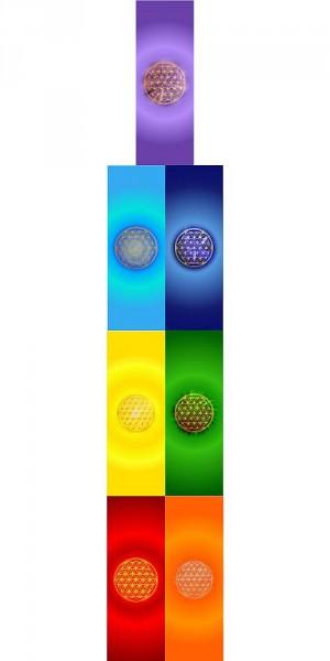 Blume des Lebens Lesezeichen | 7 Chakrenfarben | designed by atalantes spirit®