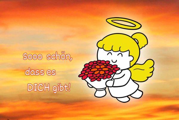 Engelige Grüße - Paul & Lilli Schutzengel - Sooo schön, dass es Dich gibt - Engelkärtchen orange VS- by atalantes spirit