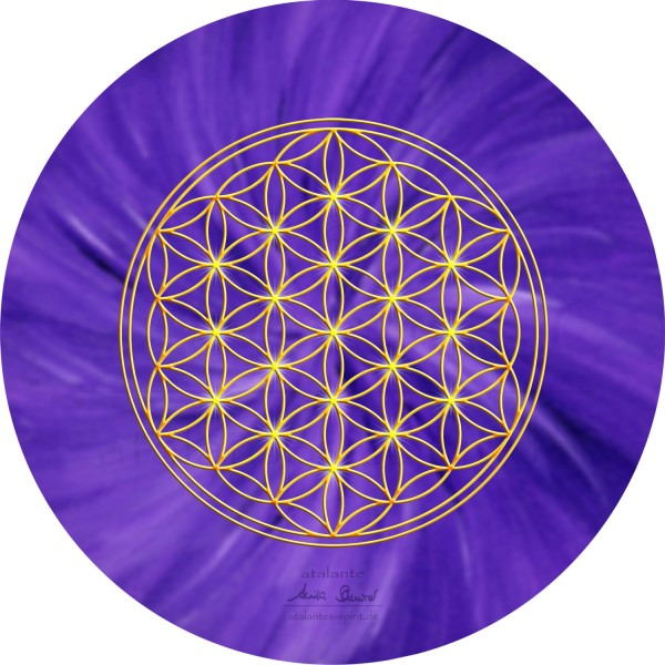 Blume des Lebens Mauspad | Farbe violett | Kronenchakra | designed by atalantes spirit®